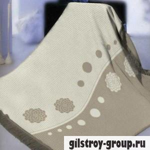 Плед Arya Valentin 150Х200 см, бежево-серые тона, узор