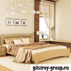 Кровать Эстелла Венеция Люкс, 140х200 см, массив бук, 102 натуральный бук