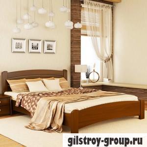 Кровать Эстелла Венеция Люкс, 140х200 см, массив бук, 103 светлый орех