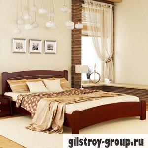Кровать Эстелла Венеция Люкс, 140х200 см, массив бук, 104 махонь