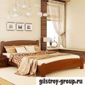 Кровать Эстелла Венеция Люкс, 140х200 см, массив бук, 105 ольха