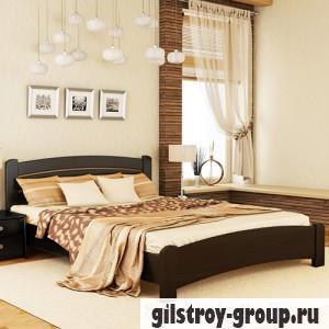 Кровать Эстелла Венеция Люкс, 140х200 см, массив бук, 106 венге