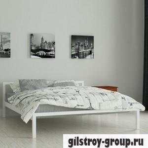 Кровать металлическая Мадера Вента, 120х200 см, основа - металлические трубки, белая