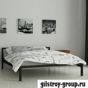 Кровать металлическая Мадера Вента, 120х200 см, основа - металлические трубки, черная