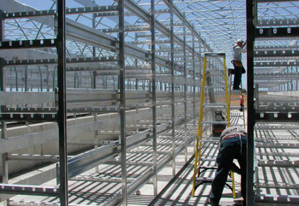 Оборудование для выращивания шампиньонов. Алюминиевые стеллажи