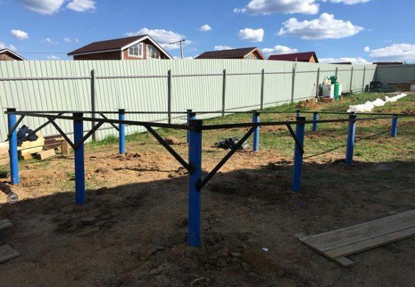 Строительство загородной недвижимости. Производство винтовых свай